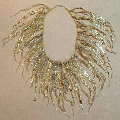 Golden Shimmer Soft Necklace by Melinda Small Paterson