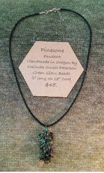 Pinecone Pendant Necklace by Melinda Small Paterson