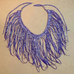 Purple Tendrils Soft Necklace by Melinda Small Paterson