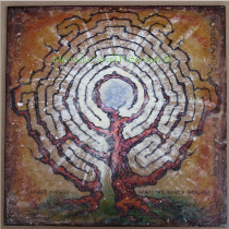 Encaustic Labyrinth Painting